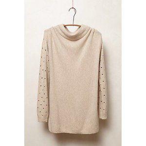 Anthropologie Moth Ceres Mockneck Sweater Oatmeal